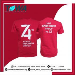 baju kaos oblong tshirt merah hut ri ke 74