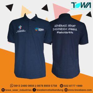 baju poloshirt germas gorontalo bahan lacoste cotton navy 1
